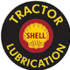 Shell Tractor Lubrication Round Metal Sign    (st)